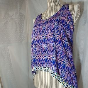 MM Couture Razorback High Low Blouse Size XS